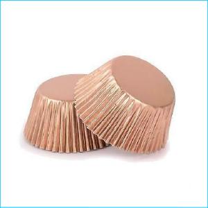 Patty Pan Standard Rose Gold Foil Pk 25