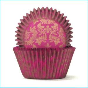 Patty Pan Large 700 Pink Gold Damask
