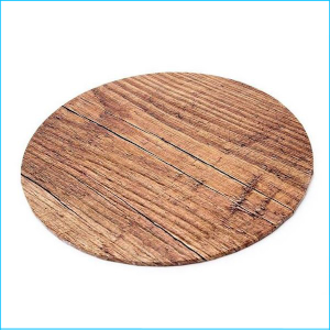"Cake Board Printed Wood Grain 14"" Round"
