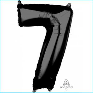 Foil 66cm Black Number 7