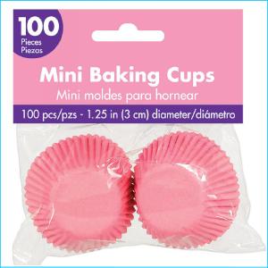 Patty Pan Mini Pink Pk 100