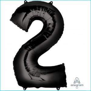Foil 86cm Black Number 2