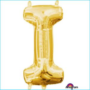 Airfill Letter I Gold Foil 40cm