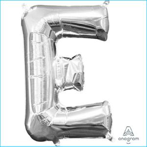Airfill Letter E Silver Foil 40cm