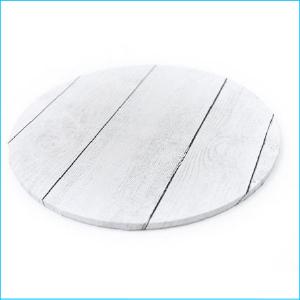 Cake Board Printed White Wood Grain 12'
