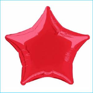 Foil 45cm Star Metallic Red