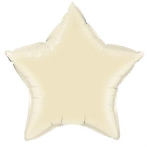 Foil 45cm Star Matte Ivory