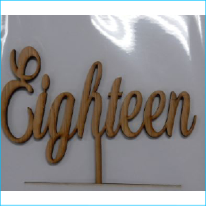 Cake Topper Eighteen Bamboo Style A