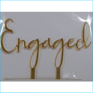 Cake Topper Engaged Gold Style B