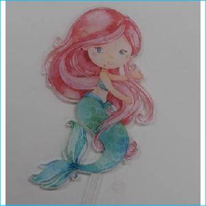 Cake Topper Printed Mermaid