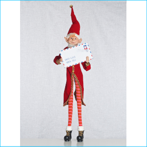 Elf with Mail Red 86cm XX7965