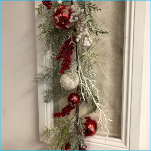 Garland Glitter Ball Pine Berries 180cm
