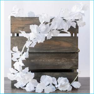 Garland Holly Leaf White 180cm