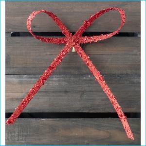 Bow Clip Red Glitter 25cm