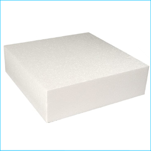 "Cake Dummy Square 10"" x 3"" High"