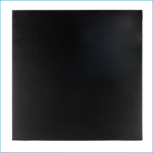 Cake Board Square Black 10""
