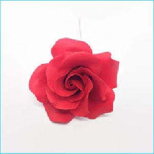 Sugar Flower Red Rose Small