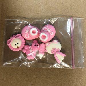 Sugar Decoration Christening Pink Pk 6