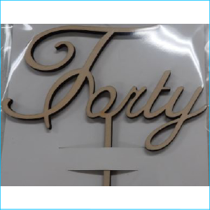 Cake Topper Forty Pine