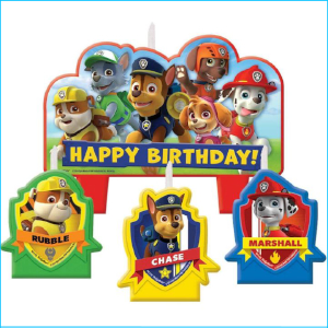 Candle Paw Patrol Set of 4