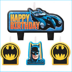 Candle Batman Set of 4