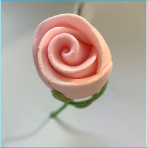 Sugar Flower Pink Rose Bud