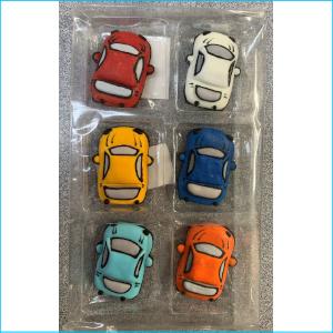 Sugar Figurine Cars Pk 6