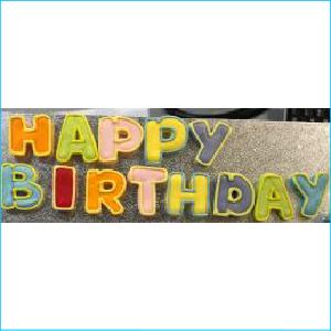 Sugar Happy Birthday Letter Set