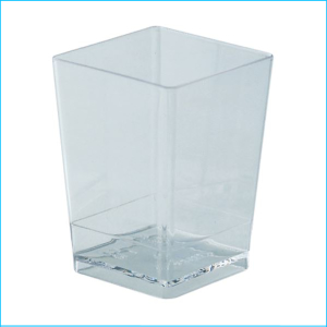 Catering Dessert Cup Square 120ml Pk 10