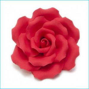 Sugar Flower Red Rose Medium