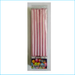 Candle Tall Pearl Pink Pk 12