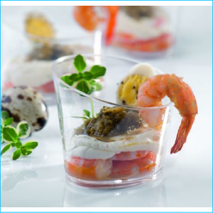 Catering Dessert Cup Slanted 120ml Pk 10
