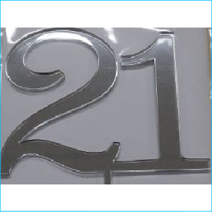 Cake Topper Silver Number 21