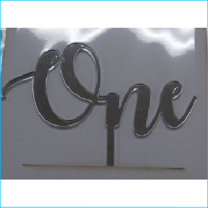 Cake Topper One Silver