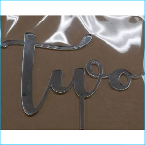Cake Topper Two Silver