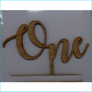 Cake Topper One Bamboo