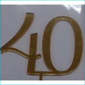 Cake Topper Gold Number 40