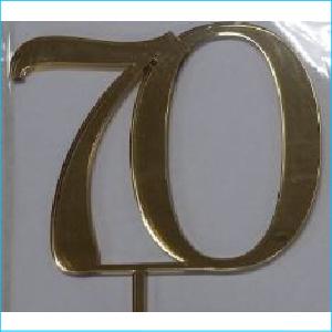 Cake Topper Gold Number 70