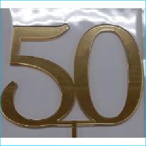 Cake Topper Gold Number 50