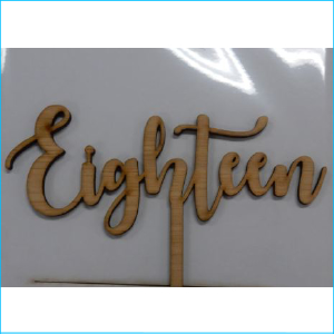 Cake Topper Eighteen Bamboo Style B
