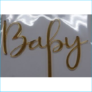 Cake Topper Baby Gold