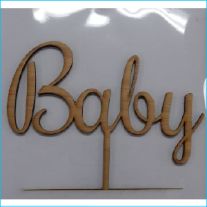Cake Topper Baby Bamboo