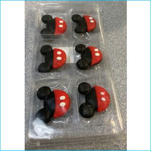 Sugar Figurine Mickey Mouse Pk 6