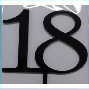 Cake Topper Black Number 18