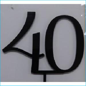 Cake Topper Black Number 40