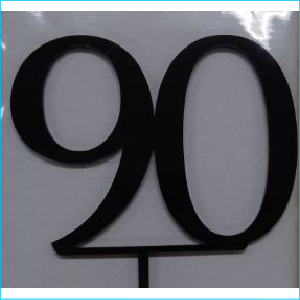 Cake Topper Black Number 90
