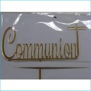 Cake Topper Communion Gold