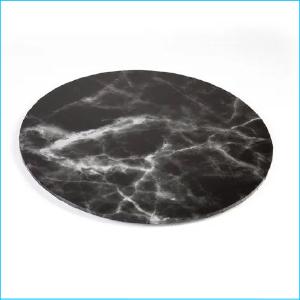 "Cake Board Printed Marble Black 14"""