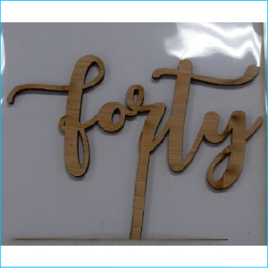 Cake Topper Forty Bamboo