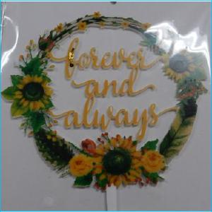Cake Topper Forever & Always Floral